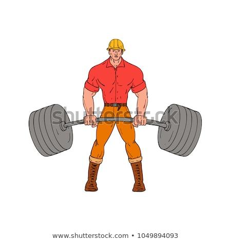 лесоруб весов Cartoon стиль иллюстрация Сток-фото © patrimonio