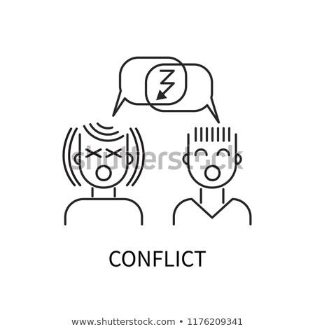 конфликт два человека сердиться Поп-арт ретро Vintage Сток-фото © studiostoks