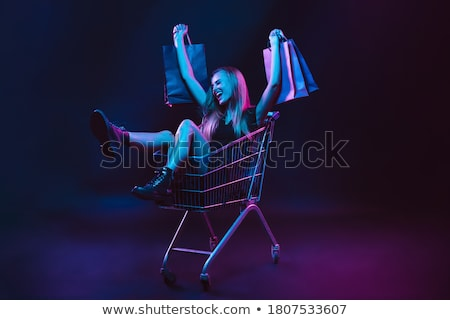 Black friday néon compras venda promoção negócio Foto stock © Anna_leni
