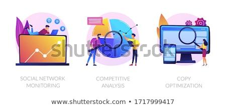 social networks promotion concept vector illustration stock photo © rastudio