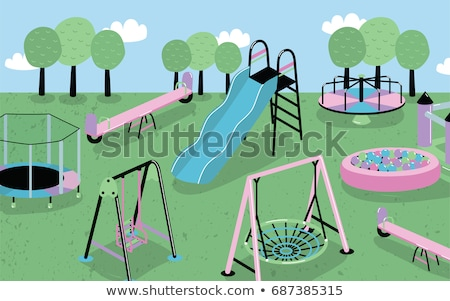 playful children with toys vector illustration stock photo © robuart