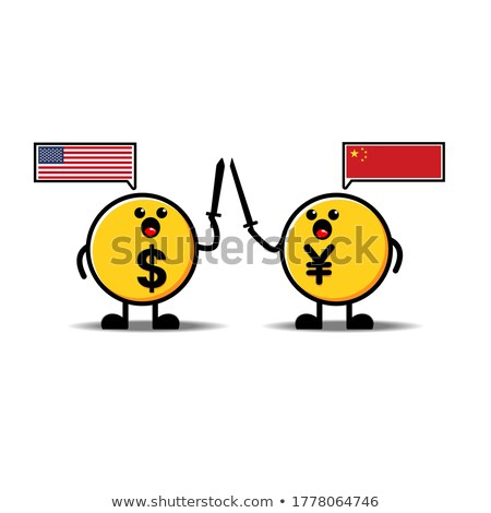 Mascot Currency Yen Illustration Stock photo © lenm
