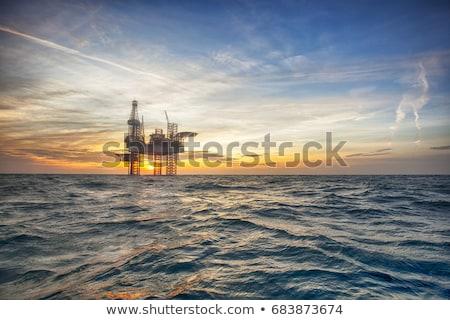 установка буровая автомобиль нефть газ строительство Сток-фото © EvgenyBashta