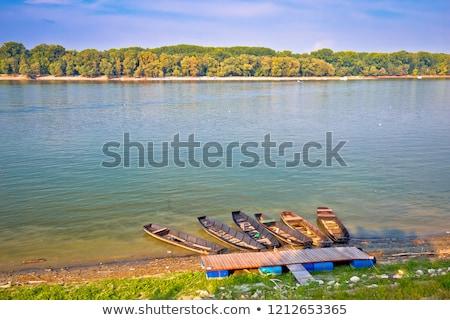 ドナウ川 海岸 風景 表示 クロアチア セルビア ストックフォト © xbrchx