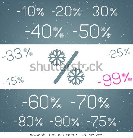 зима скидка снега набор Рождества маркетинга Сток-фото © romvo