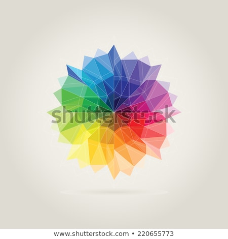 green polygon circle icon abstract background Stock photo © blaskorizov