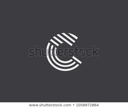 Logotípus c betű logo felirat vektor üzlet Stock fotó © blaskorizov