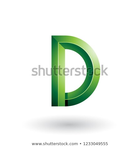 Green Glossy and Bold 3d Geometrical Letter D Vector Illustratio Stock photo © cidepix
