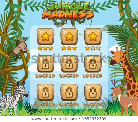 Játék sablon sok majmok illusztráció természet Stock fotó © colematt