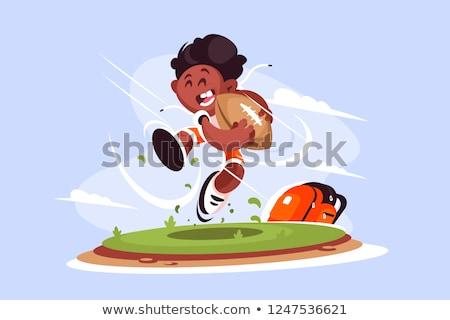 Pequeno menino jogar rugby fora jogador Foto stock © jossdiim