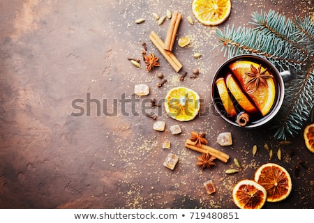 christmas card with mulled wine stock photo © karandaev