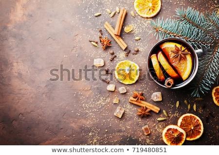 クリスマス · ワイン · スライス · オレンジ · スパイス · 浅い - ストックフォト © karandaev