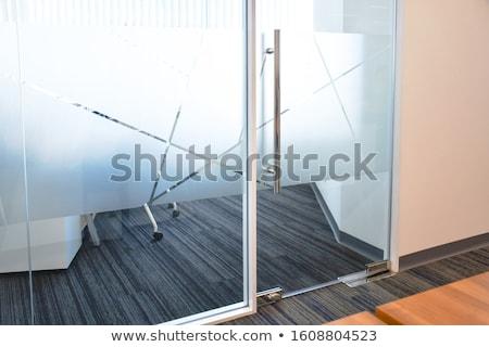 Frost on glass of window stock photo © flariv