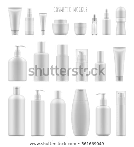 Cosmetic Bottles Set Vector. Empty Plastic White Package For Cosmetic Product. Container, Tube, Bott Stock photo © pikepicture