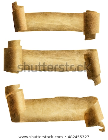 antique papyrus ribbons or old curled scrolls stock photo © robuart