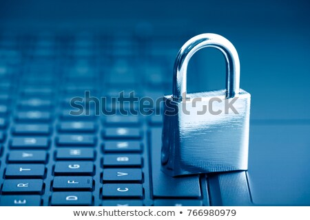 Key padlock on keyboard, internet access. Stock photo © vinnstock