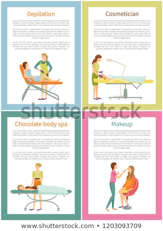Cosmetician and Depilation on Legs Poster Vector Stock photo © robuart