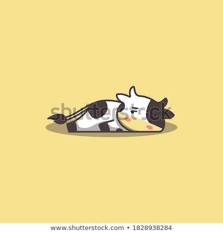 Karikatür inek sıkılmış örnek Stok fotoğraf © cthoman