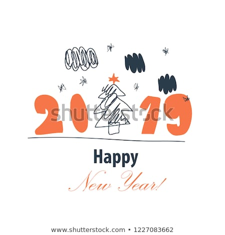 Holly Jolly, Happy New Year Holidays, Joy and Xmas Stock photo © robuart