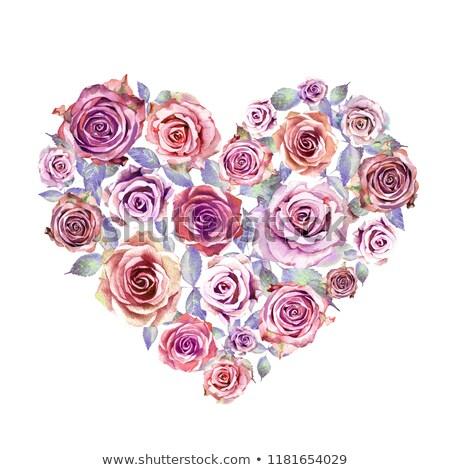 装飾的な 中心 ライラック 花 バレンタインデー ストックフォト © Kotenko