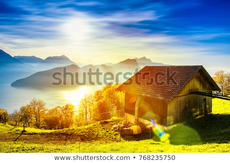 távcső · Alpok · kép · üveg · kék · utazás - stock fotó © boggy