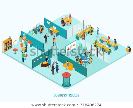Boss Working in Office, Dismissal and Interview Stock photo © robuart
