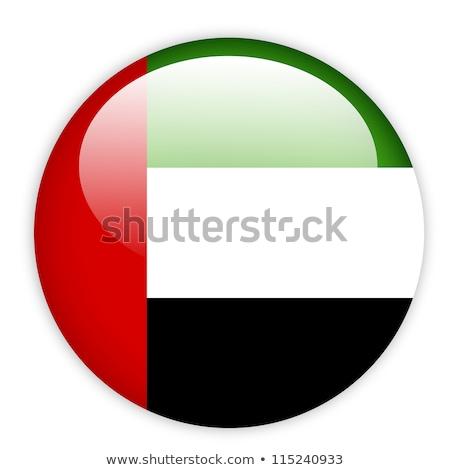 Arab Emirates flag on round badge Stock photo © colematt