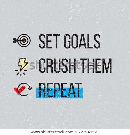 Achieve Goal Text Posters Set Vector Illustration Stock photo © robuart