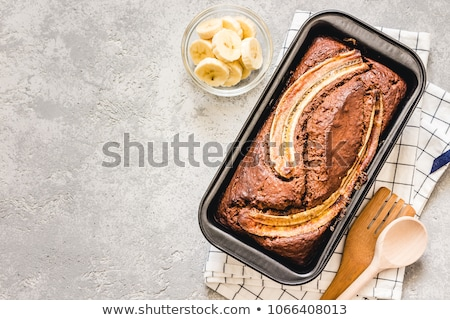 Chocolade banaan brood vers gebakken Stockfoto © YuliyaGontar
