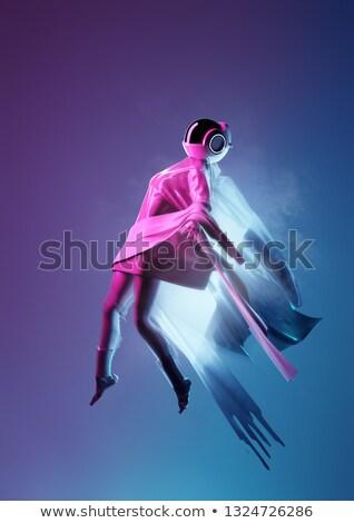 Futurisztikus űr nők lebeg messze portré Stock fotó © solarseven