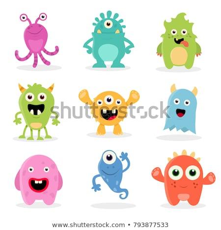 happy funny monsters cartoon characters stock photo © hittoon