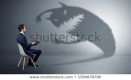 Imprenditore mostro ombra giovani uomo sfondo Foto d'archivio © ra2studio