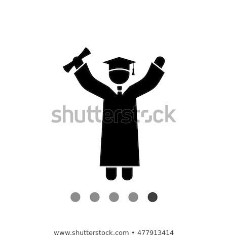 счастливым мужчины выпускник Cap платье диплом Сток-фото © feverpitch