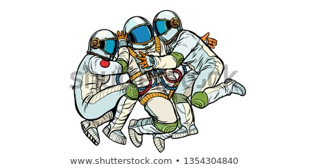 three astronauts hugging Stock photo © studiostoks