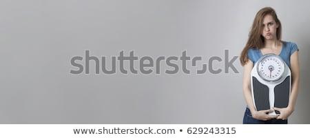 dieet · zakenman · lopen · het · verliezen · van · gewicht · plan - stockfoto © rastudio