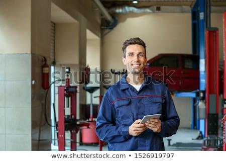 自動車修理 サービス スタッフ 小さな ハンサム スペシャリスト ストックフォト © pressmaster
