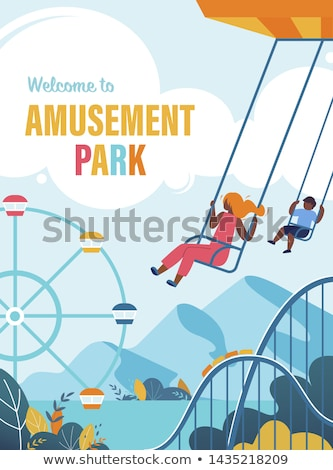Children Playground, Welcome to Amusement Park Foto stock © robuart