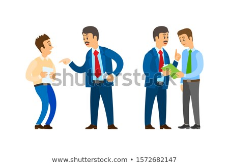 Boos Leader of Company Talking to Office Workers Stock photo © robuart