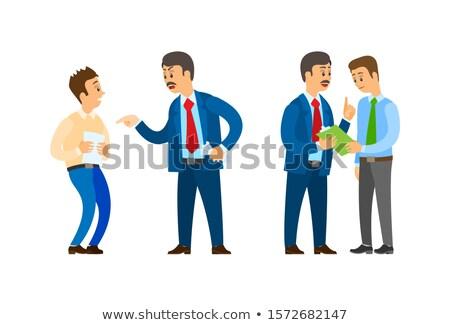 patron · şirket · lider · konuşma · ofis · çalışanı · adam - stok fotoğraf © robuart
