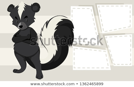 Skunks Uwaga szablon ilustracja tekstury tle Zdjęcia stock © bluering