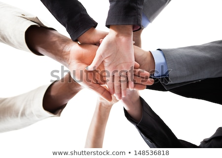 Alulról fotózva kilátás emberek kéz több nemzetiségű csoportkép Stock fotó © AndreyPopov
