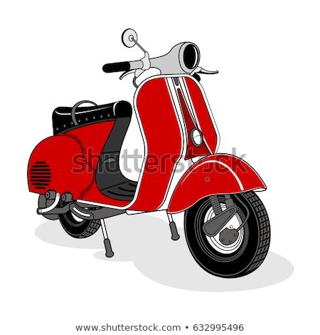 cor · vintage · bicicleta · cartaz · design · de · logotipo · branco - foto stock © netkov1
