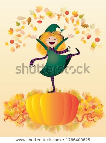 meisje · kroon · illustratie · vrouw · groene - stockfoto © grivina