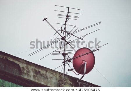 Old house and satelite antenna Stock photo © simazoran
