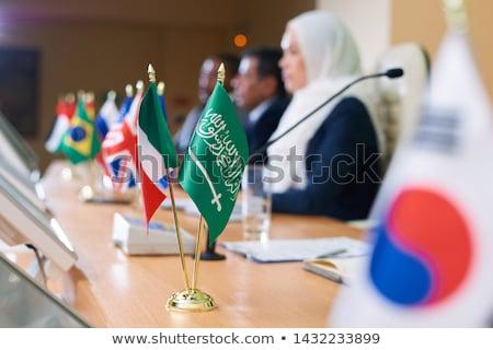Verde bandera musulmanes país tricolor uno Foto stock © pressmaster
