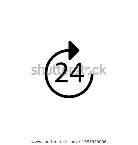 день 24 службе Label дизайна Сток-фото © SArts