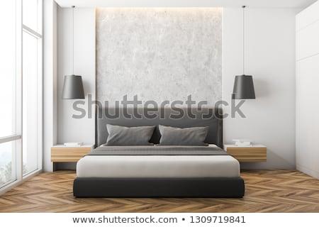 Fronte view legno comodino isolato bianco Foto d'archivio © magraphics