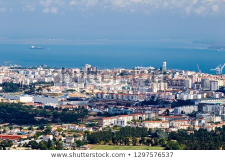 Stadt Tageslicht top Ansicht Portugal Himmel Stock foto © frimufilms