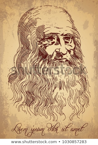 Leonardo da Vinci, Italian painter, inventor and sculptor Stock photo © rogistok
