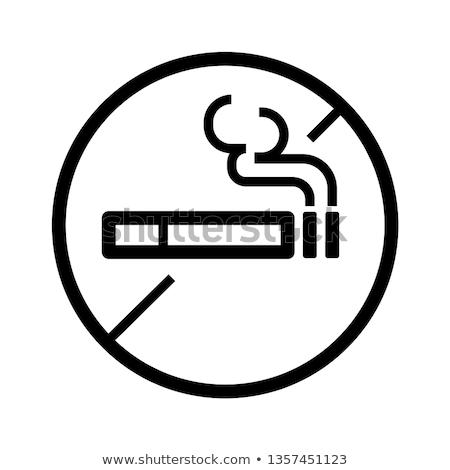 Fumer tabac icônes vecteur cigarette dépendance Photo stock © netkov1
